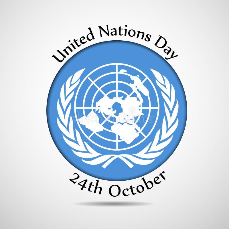 联合国天背景的例证 库存例证