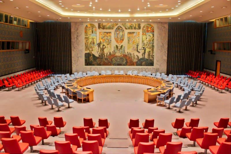 联合国安理会室 库存照片