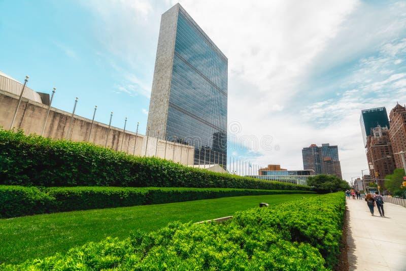 联合国总部大楼,纽约 免版税库存照片