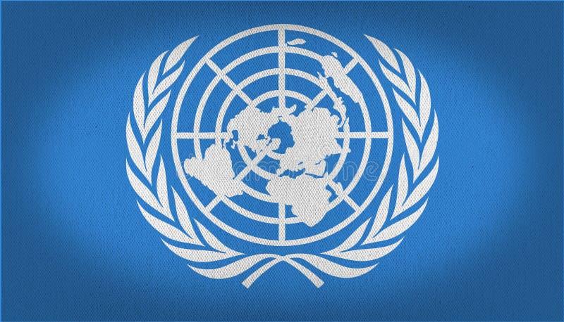 联合国旗子 皇族释放例证