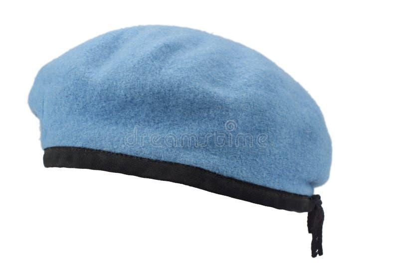 联合国维持和平队伍蓝色贝雷帽 免版税图库摄影