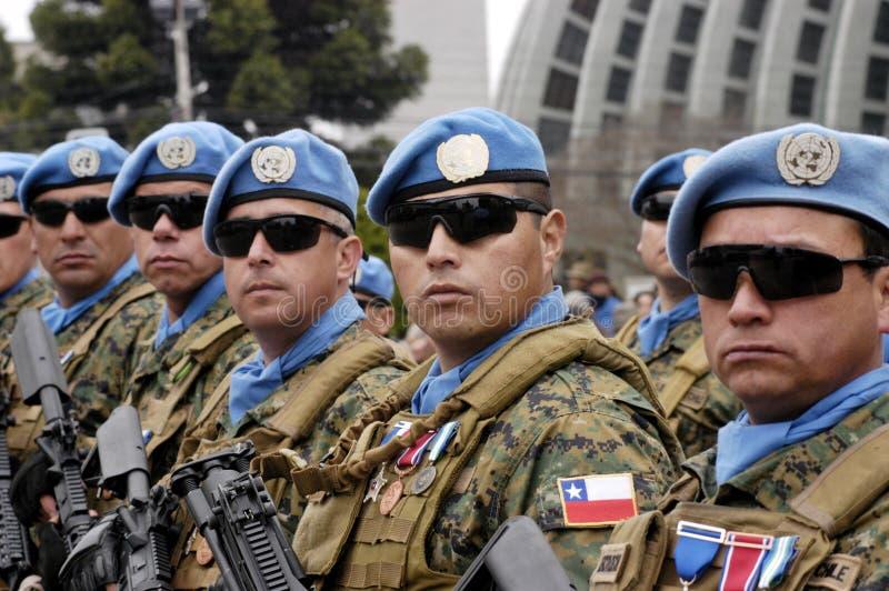 联合国队伍 免版税图库摄影