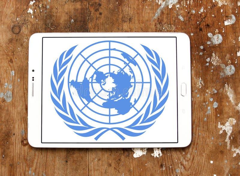 联合国,联合国商标象征 库存图片