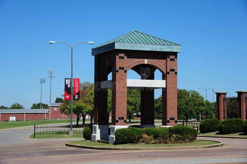 联合大学入口在杰克逊,田纳西 免版税库存照片