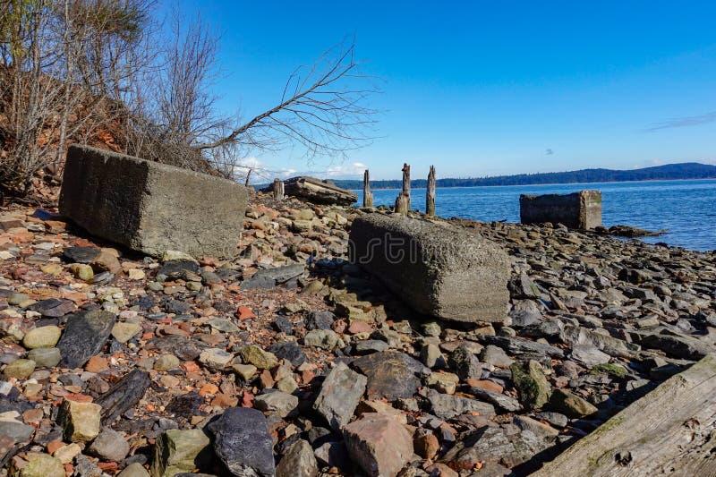联合海湾煤炭小山温哥华岛,不列颠哥伦比亚省, Canad 免版税库存图片