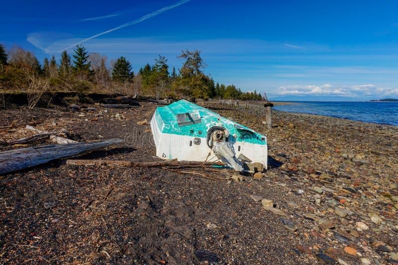 联合海湾煤炭小山温哥华岛,不列颠哥伦比亚省, Canad 库存照片