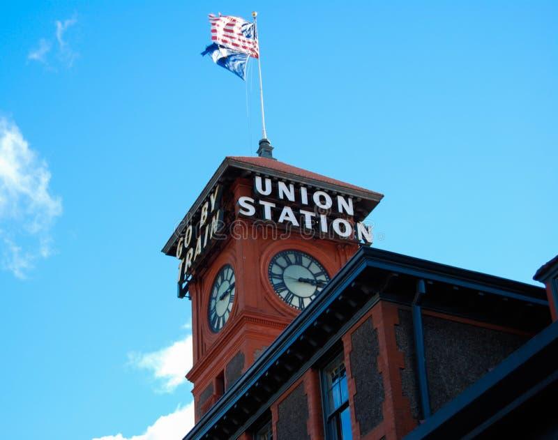 联合火车站西雅图 免版税库存照片