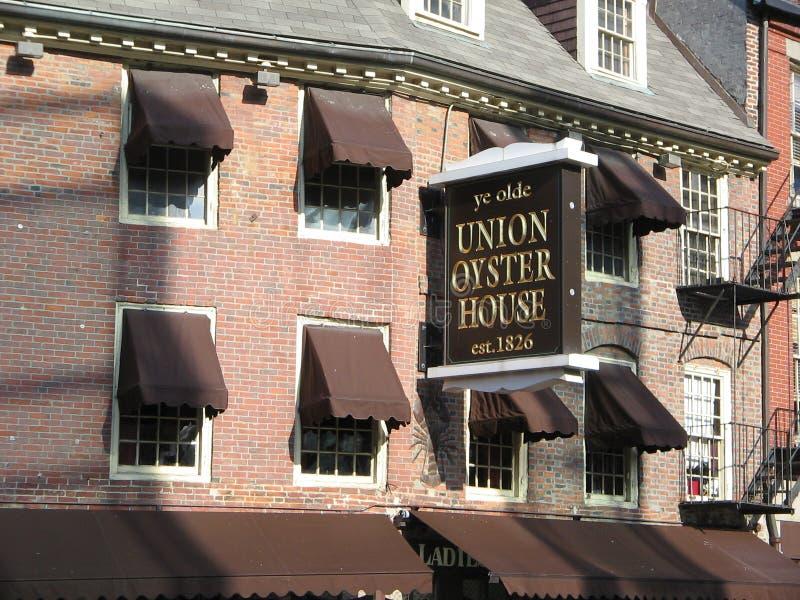 联合牡蛎议院,波士顿,马萨诸塞,美国 免版税库存图片