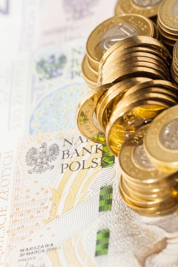联合的波兰硬币 免版税库存图片