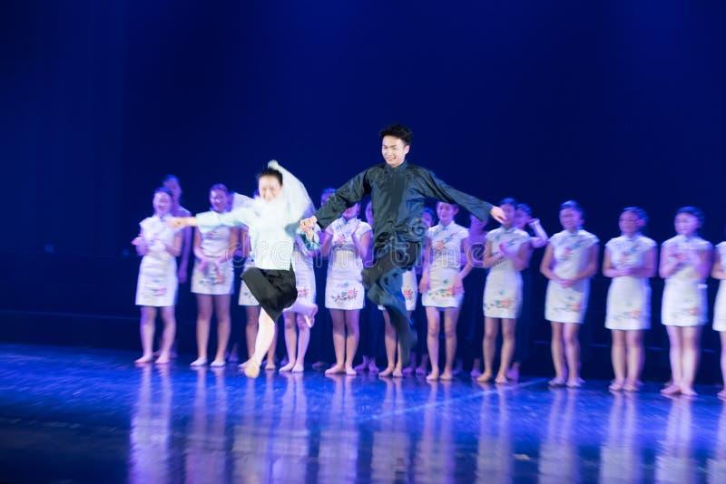 联合表现--舞蹈戏曲驴得到wate 免版税库存照片