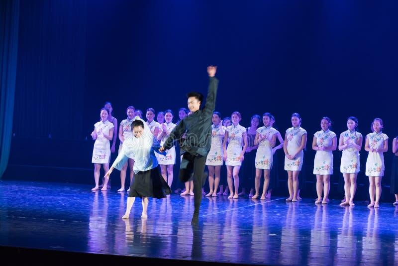 联合表现2--舞蹈戏曲驴得到wate 库存照片