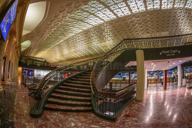 联合驻地,美国内部在华盛顿特区的 免版税库存照片