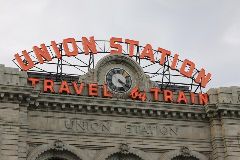 联合驻地在街市丹佛 免版税图库摄影