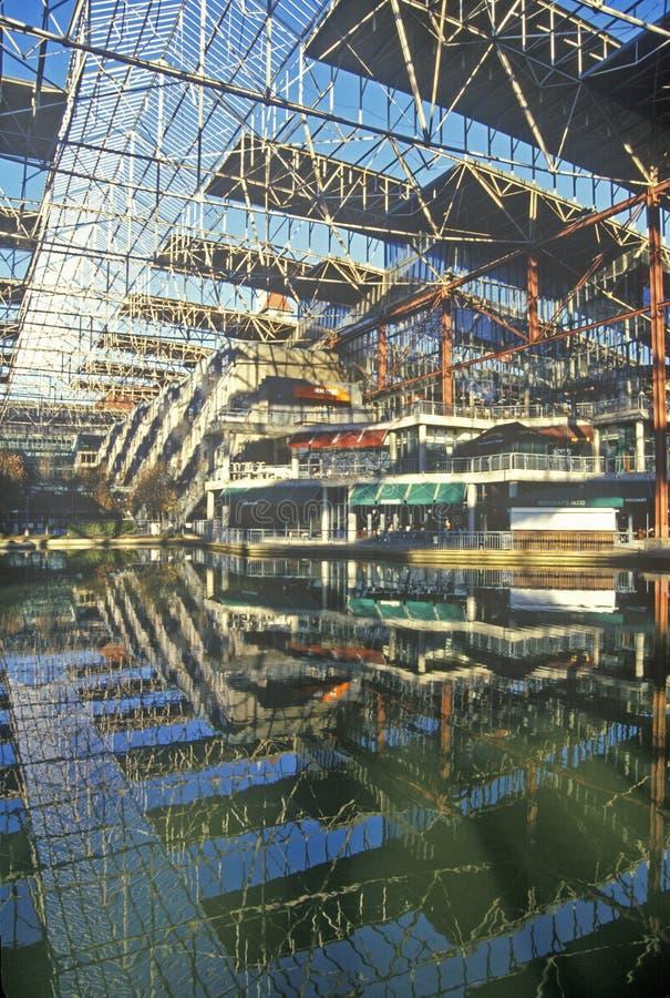 联合驻地购物中心,圣路易斯, MO内部  免版税图库摄影