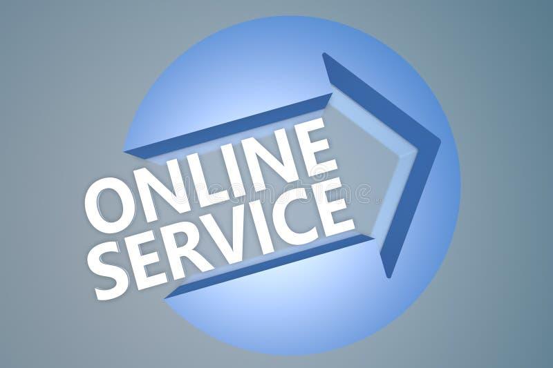 联机服务 库存例证