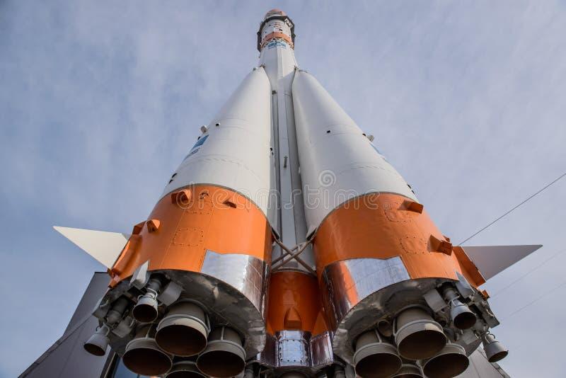 联盟号火箭的火箭发动机 免版税库存图片