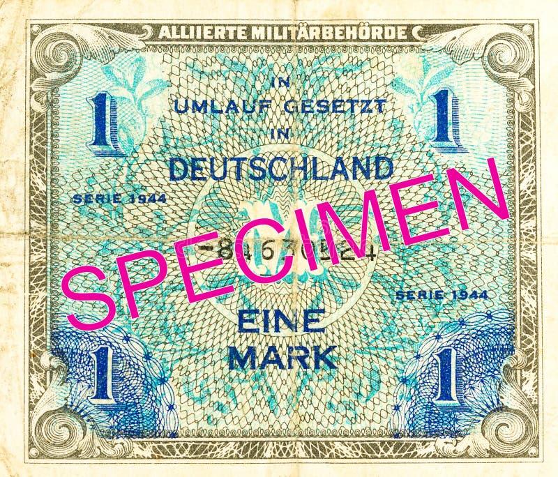 1联盟的军事标记钞票1944正面 免版税库存照片