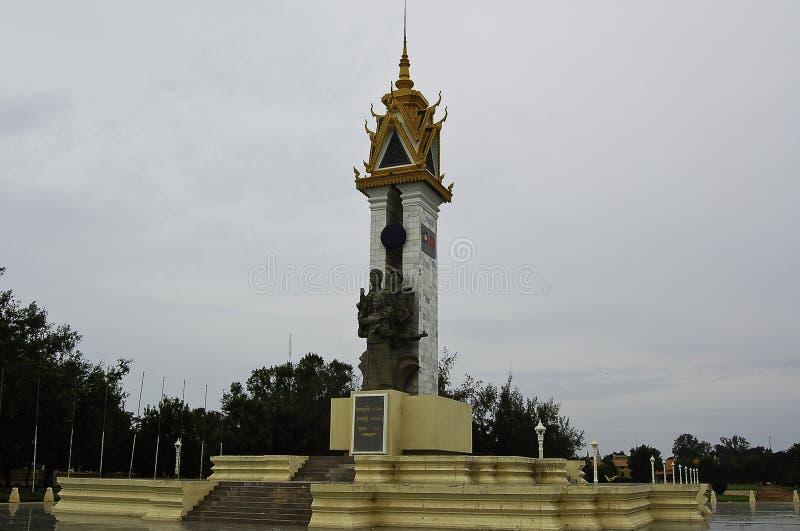 联盟的雕象与越南a金边,资本的 库存图片