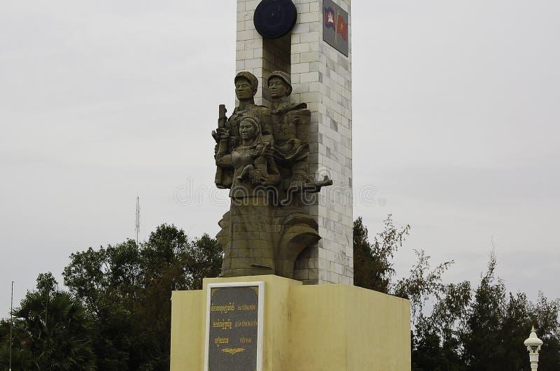 联盟的雕象与越南a金边,资本的 免版税图库摄影