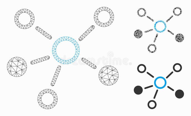 联系导航网状网络模型和三角马赛克象 皇族释放例证