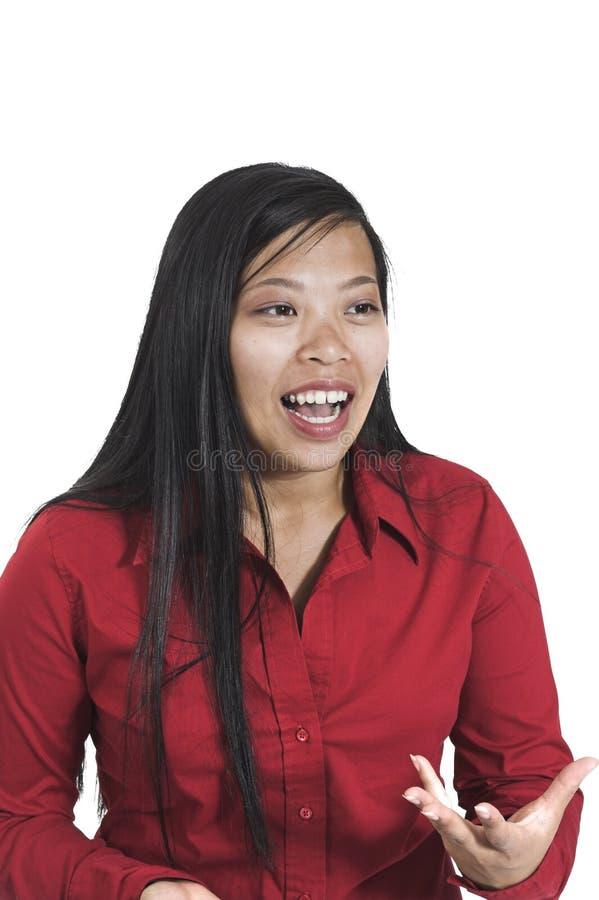 联系的妇女 免版税库存照片