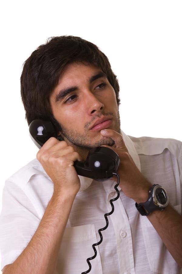联系的电话 免版税图库摄影