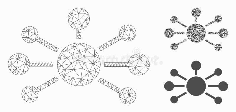 联系链接导航网状网络模型和三角马赛克象 库存例证