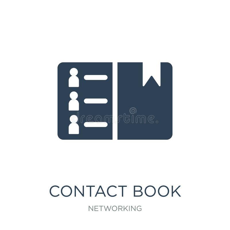 联络在时髦设计样式的书象 联络在白色背景隔绝的书象 联络书简单传染媒介的象和 库存例证