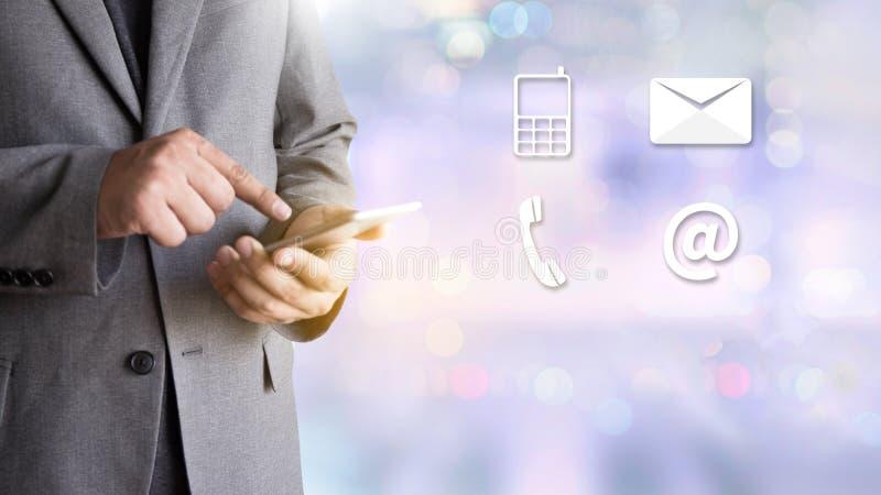 联络美国(用户支持热线人连接)电话Custo 库存图片