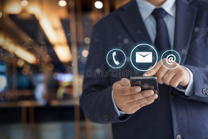 联络美国(用户支持热线人连接)电话Custo 免版税库存照片