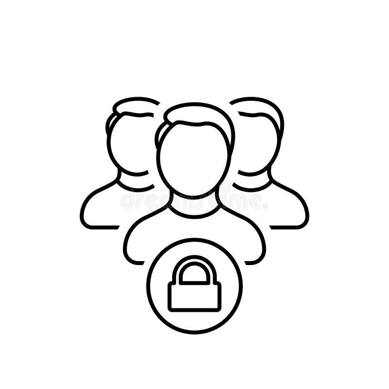 联络,小组,锁,锁着,密码,安全,用户象 皇族释放例证