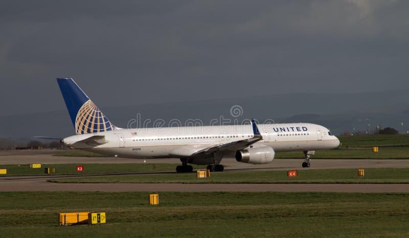联航波音757 库存照片