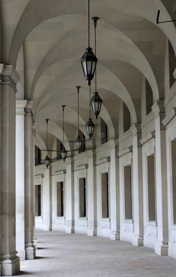 联邦三角拱道大厅在华盛顿特区, 库存图片