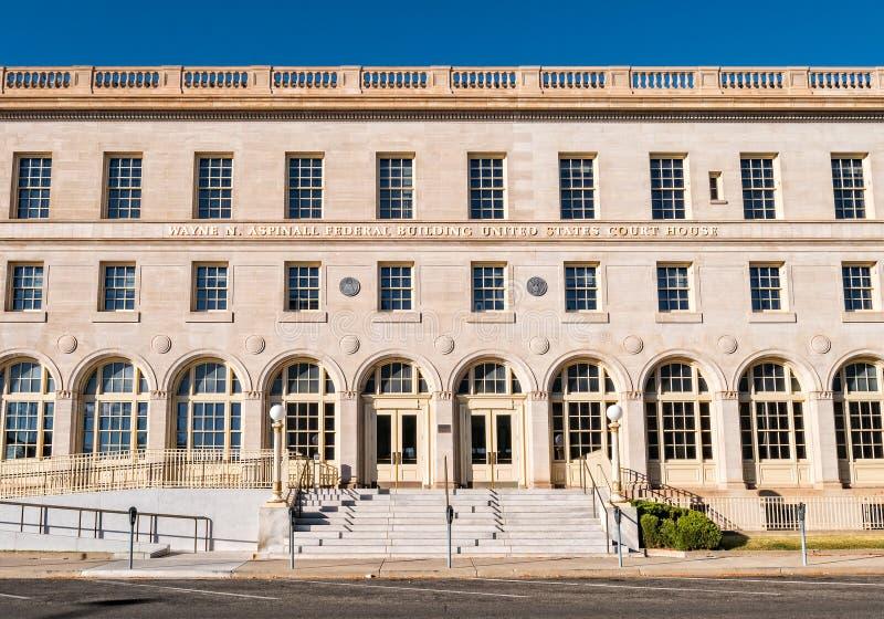 联邦大厦,大章克申,科罗拉多 免版税库存图片