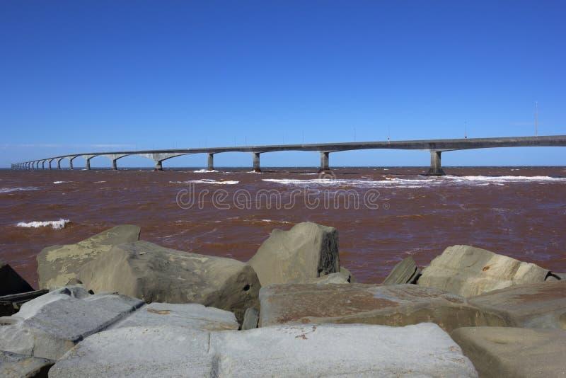 联邦大桥在加拿大 图库摄影
