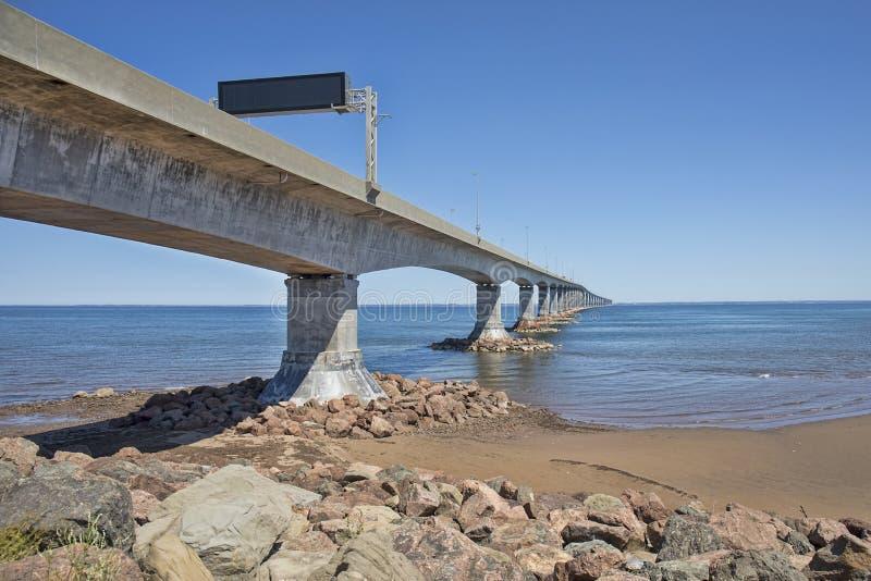 联邦大桥,新不伦瑞克,加拿大 免版税库存图片