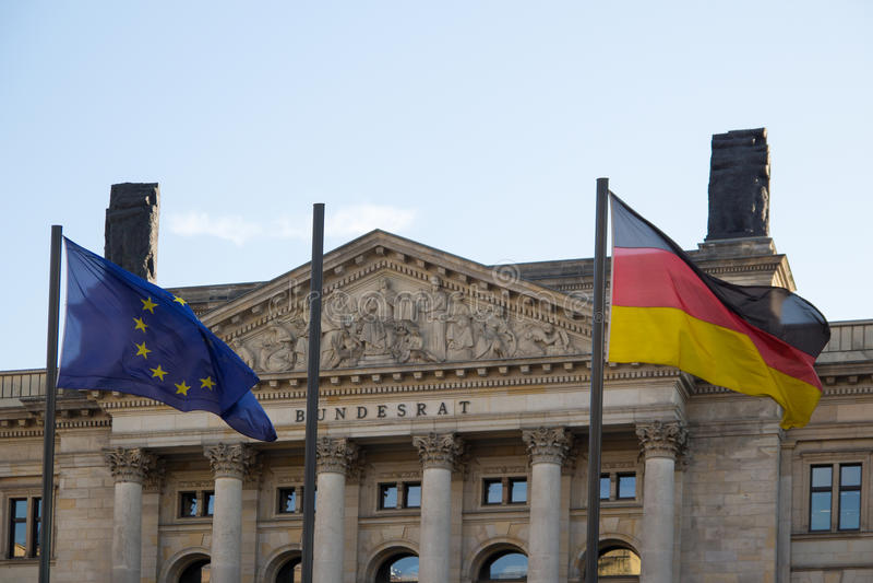 联邦委员会,柏林,德国 免版税库存照片