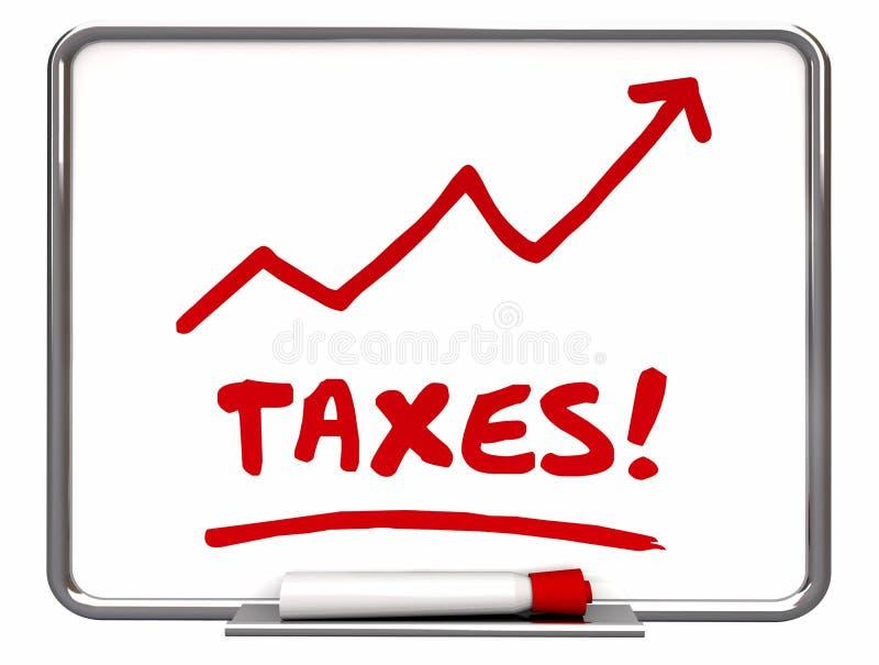 联邦税务局的税上升的箭头更多征税 皇族释放例证