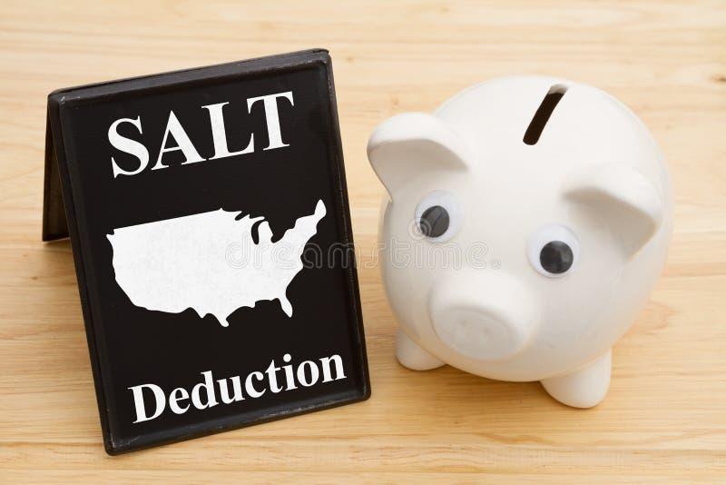 联邦美国税的盐扣除 免版税库存图片