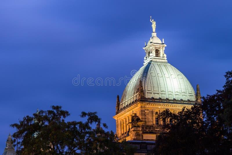 联邦行政法庭,莱比锡圆屋顶屋顶  库存图片