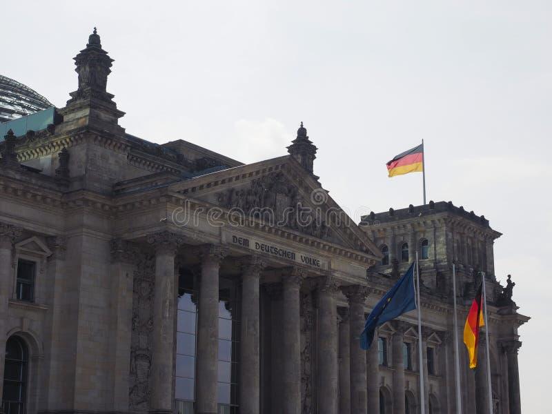 联邦议会议会在柏林 免版税库存图片