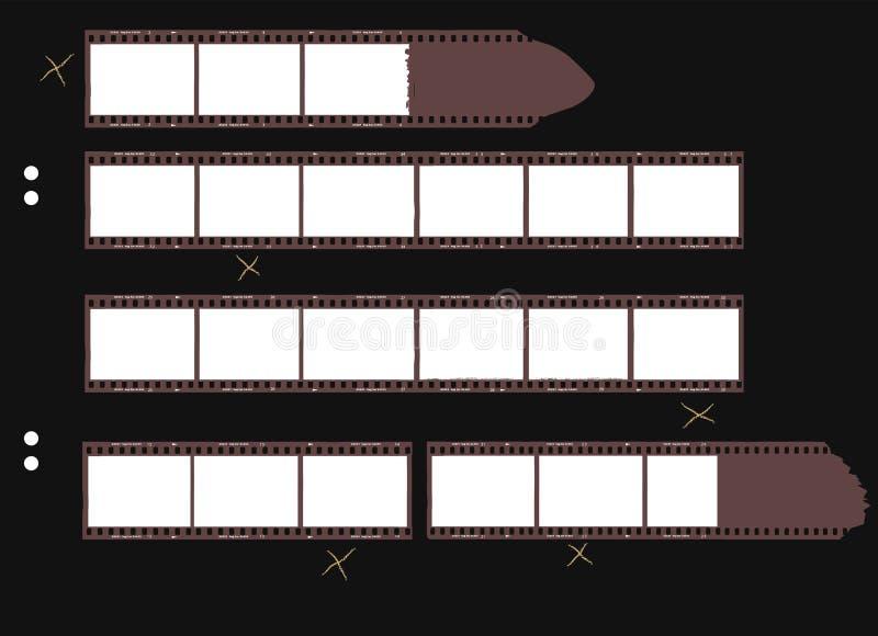 联络制作缩微胶片的原材料条纹 库存例证