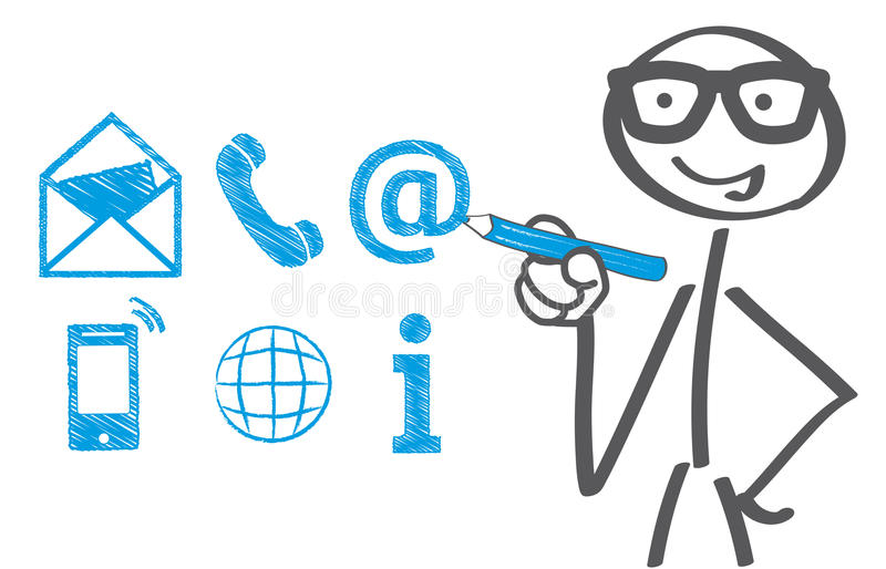 联络e例证邮件电话收货人我们 向量例证