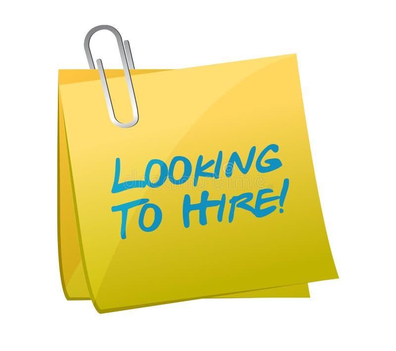 聘用岗位例证设计的看 向量例证