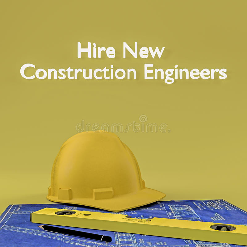 聘用新建工程工程师 向量例证