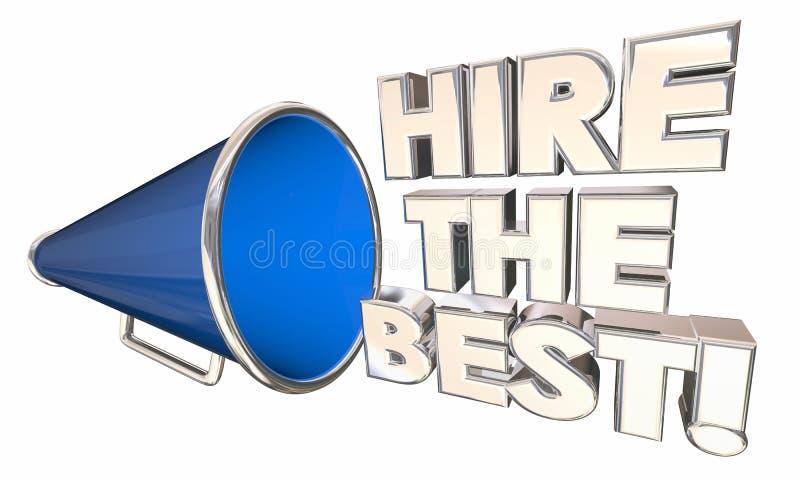 聘用最佳的工作者企业承包商手提式扬声机 库存例证
