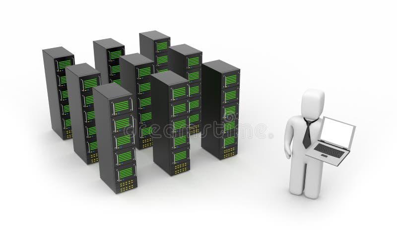聘用服务器服务 库存例证
