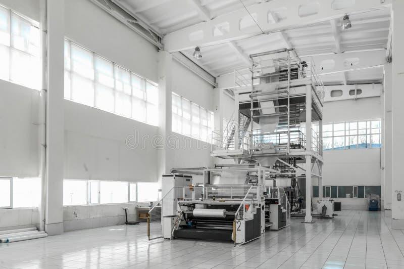 聚乙烯的生产的车间 免版税库存图片