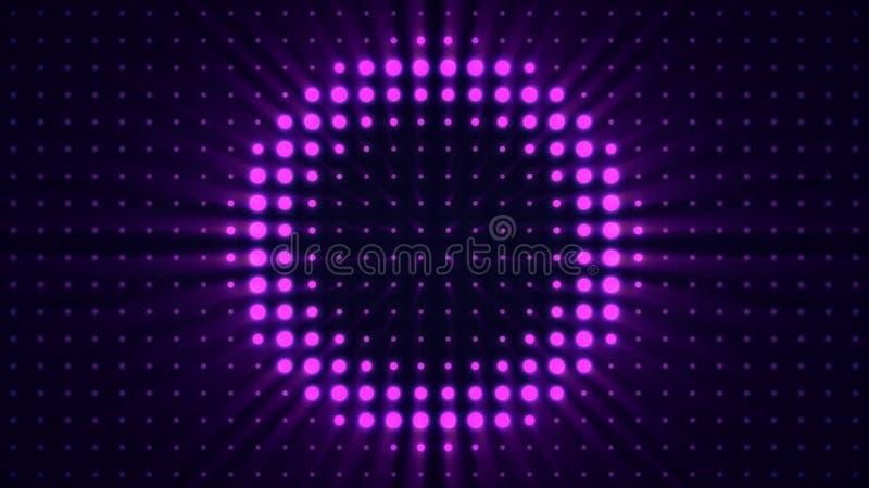 聚光灯和墙壁舞蹈 演出在音乐厅场面轻的闪动的墙壁闪光灯光英尺长度的光不同的 皇族释放例证