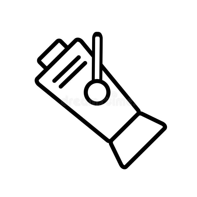 聚光灯在白色背景、聚光灯标志、线和概述元素隔绝的象传染媒介在线性样式 皇族释放例证